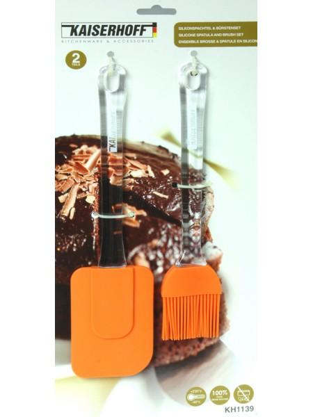 Набор силиконовая кисточка и лопатка Kaiserhoff KH-1139