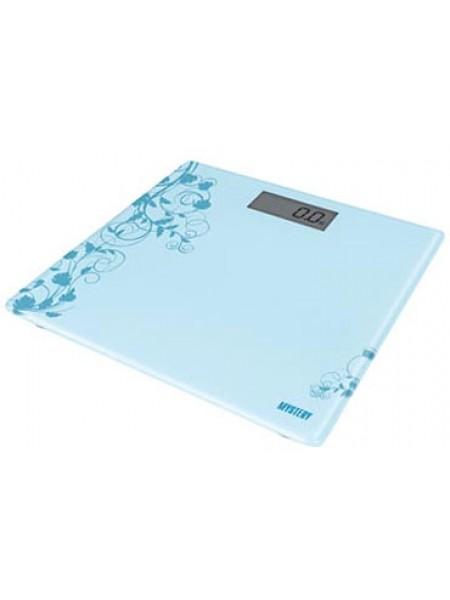 Весы напольные электронные MYSTERY MES-1808 blue